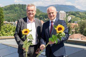 Die Landesräte Anton Lang und Johann Seitinger sichern die Förderung von steirischen Biomasseanlagen. © steiermark.at/Streibl: honorarfrei bei Quellenangabe